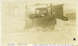 Canadian Johns-Manville snow plow