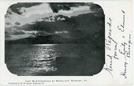 Lake Memphremagog by Moonlight, Newport, Vt.