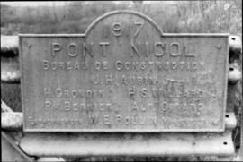 Plaque on Nicol Bridge