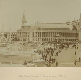 World Fair, Chicago, distance shot with people