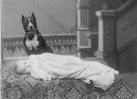 Unidentified Child and Dog