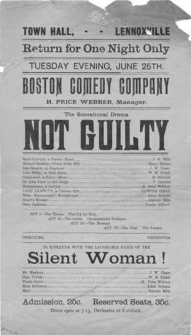 """Not Guilty"" and ""Silent Woman !"" programme"