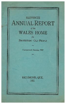 Wales Home annual report, 1931