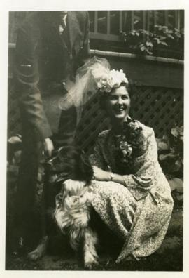 Barbara Eardley-Wilmot Carr, with dog