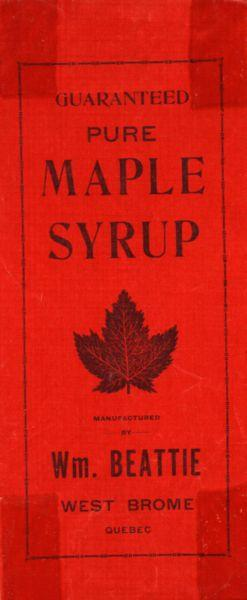 Maple Syrup Advertisement