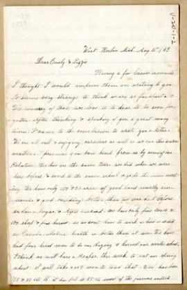 Letter from E. Freligh