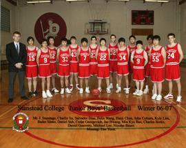 Junior boys' basketball