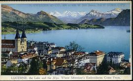 Lucerne The lake and the Alps Switzerland