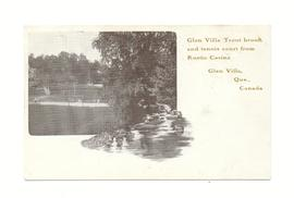 Glen Villa Trout brook and Tennis Court from Rustic Casino