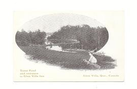 Trout Pond and entrance to Glen Villa Inn